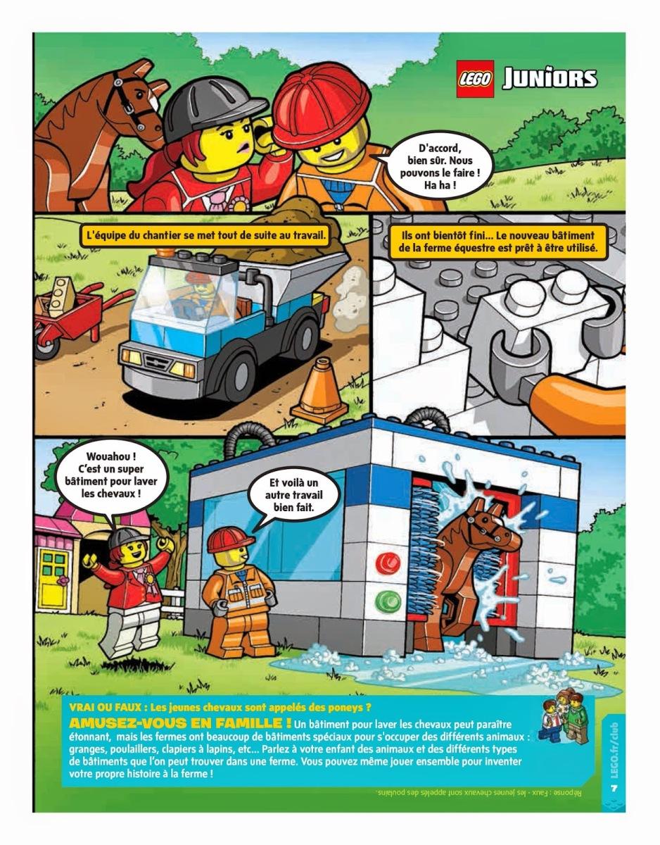 Le magazine LEGO Club Junior par LEGO - ( 2 valisettes LEGO Juniors à gagner )