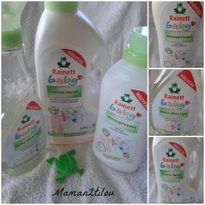 La nouvelle gamme Rainett Baby, pour des loulous tout propres (test+ concours 2 lots complets àgagner)