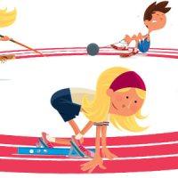 Des pointes de danse ... aux pointes d'athlétisme