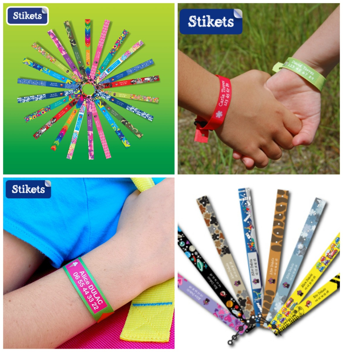 3 bracelets d'identification Stikets à gagner #1 - 4 ans du blog